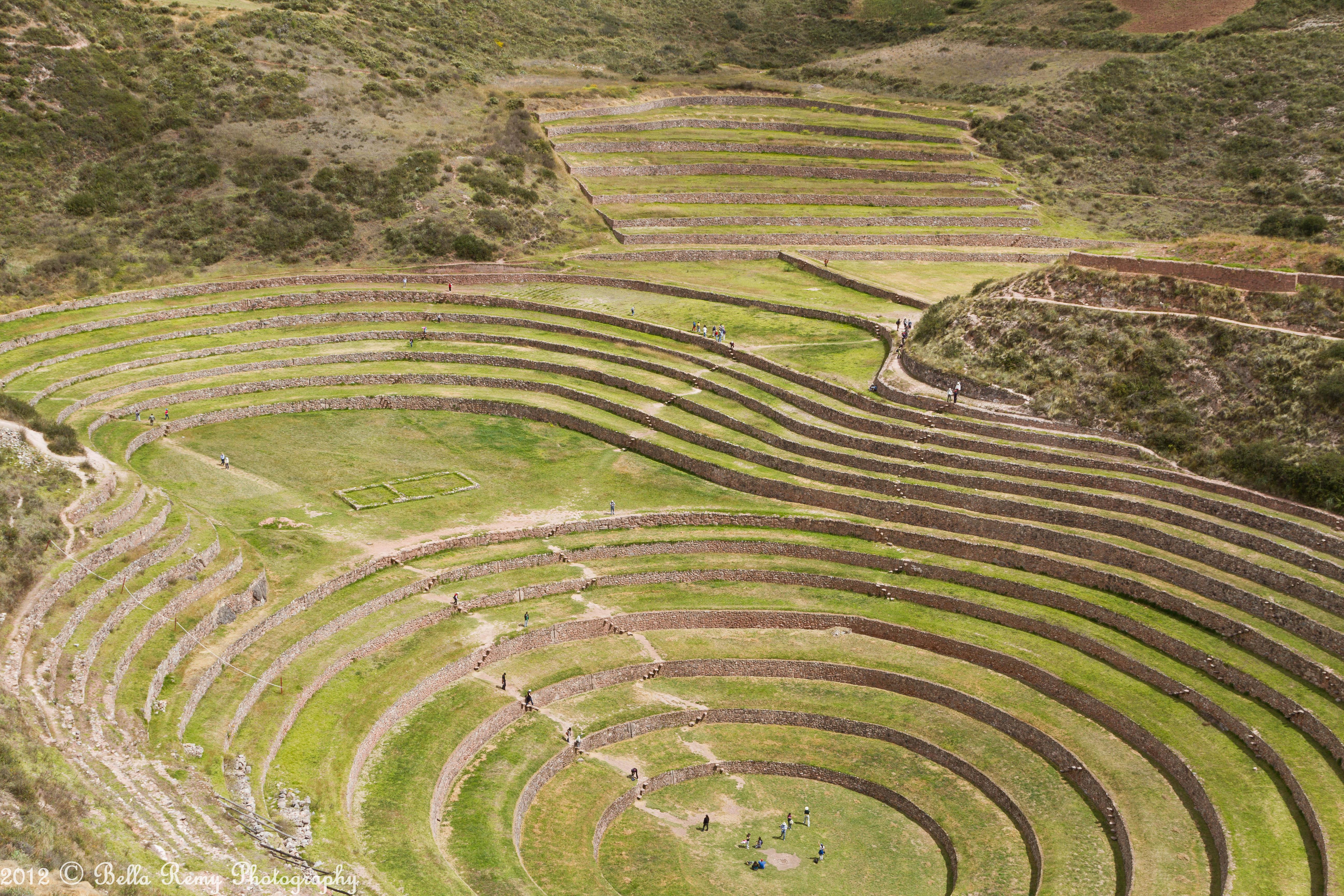 Moray an inca farmer s paradise hoof beats and foot prints for Terrace farming diagram