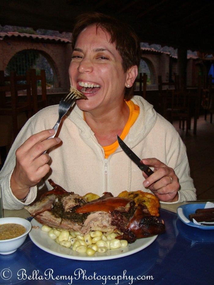 Guinea Pig in Peru - my daring sister