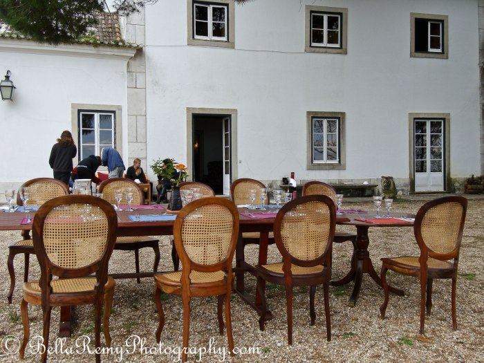 Lunch at a Portugese Hacienda between riding lessons - Morgado Lusitano