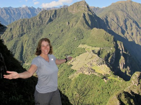The view of Machu Picchu after climbing up Huaynu Picchu. No, I was not photoshopped. I was really there!