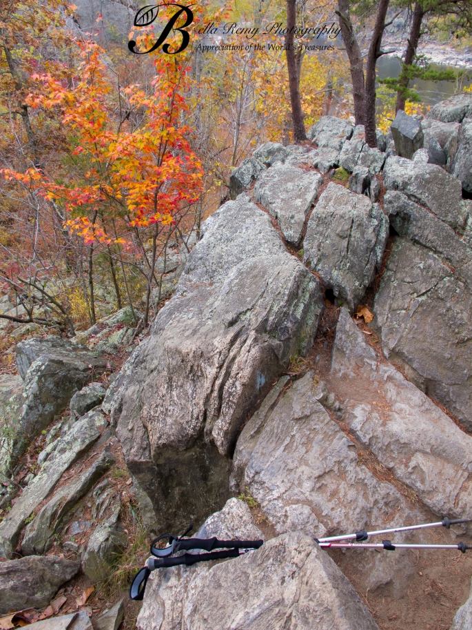 Stunning colors throughout the boulder scramble