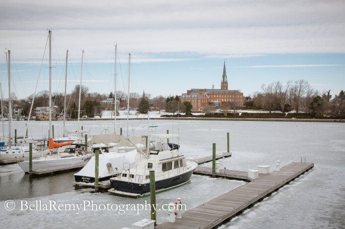 Spa Creek, Annapolis Harbor.  Charles Carroll House and Gardens
